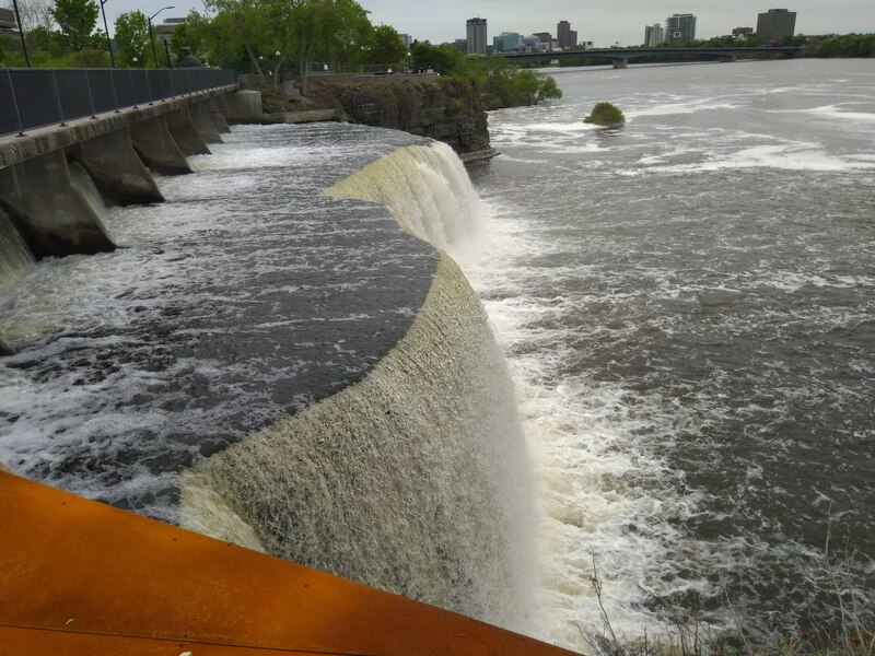 Falls inside Ottawa, the river they fall into is magnificent